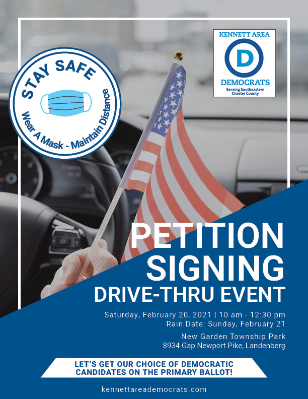Drive Thru Petition Signing Flyer