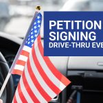 DRIVE THRU PETITION SIGNING