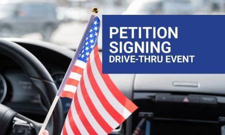 DRIVE THRU PETITION SIGNING